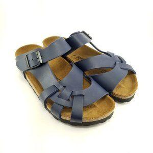 New Birkenstock Blue Narrow Fit Pisa BS Sandals
